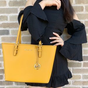 Michael kors carryall tote yellow SALE